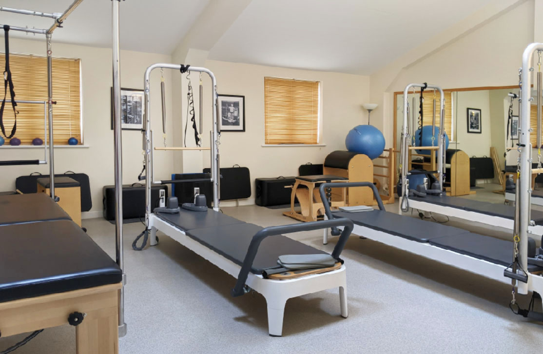 Pilates reformer equipment studio